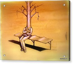 Series Trees Drought 4 Acrylic Print by Paulo Zerbato