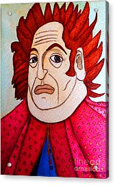 Acrylic Print featuring the painting Serious Cardinal by Don Pedro De Gracia