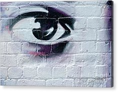Acrylic Print featuring the painting Serious Graffiti Eye On The Wall by Yurix Sardinelly