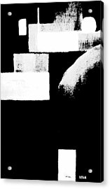 Seriously Black And White Acrylic Print