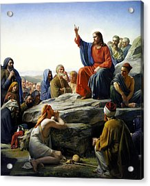 Sermon On The Mount Acrylic Print by Carl Bloch