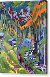 Sertig Path In Summer Acrylic Print by Ernst Ludwig Kirchner