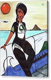 Serve And Protect Hawaiian Style 4-1 Aiea Pride Acrylic Print