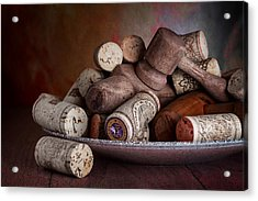 Served - Wine Taps And Corks Acrylic Print