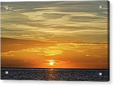 Service Club Park Beach Sunset  -  Svcpkss56 Acrylic Print by Frank J Benz