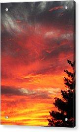 Desert Sunburst Acrylic Print