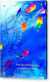 Set Free Acrylic Print by Anne Duke