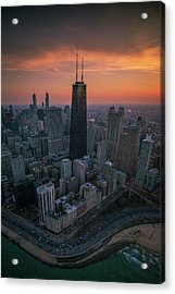 Setting On Chicago Acrylic Print