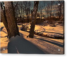 Setting Sun On A Winters Day Acrylic Print
