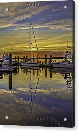 Setting Sun Reflections Acrylic Print