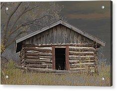 Settler Cabin Acrylic Print by Ralph Steinhauer