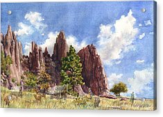 Acrylic Print featuring the painting Settler's Park, Boulder, Colorado by Anne Gifford