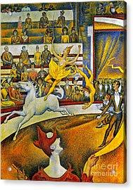 Seurat: Circus, 1891 Acrylic Print by Granger