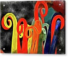 Seuss' Canes Acrylic Print by Trish Tritz