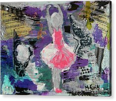 Acrylic Print featuring the mixed media Sevella by Lisa McKinney