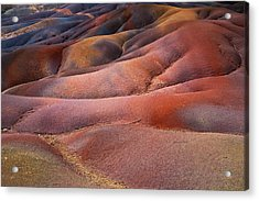 Seven Colored Earth In Chamarel 8. Series Earth Bodyscapes. Mauritius Acrylic Print