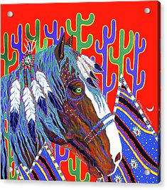 Seven Feathers Acrylic Print