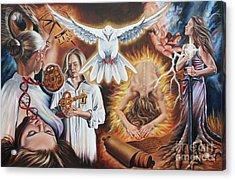 Seven-fold Spirit Of The Lord Acrylic Print by Ilse Kleyn