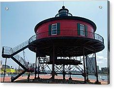 Seven-foot Knoll Lighthouse Acrylic Print
