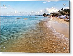 Acrylic Print featuring the photograph Seven Mile Beach by Lars Lentz