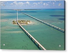 Seven Mile Bridge Crossing Pigeon Key Acrylic Print by Mike Theiss
