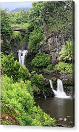 Seven Pools Hana Acrylic Print by Pierre Leclerc Photography