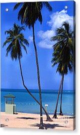 Seven Seas Beach Puerto Rico Acrylic Print by Thomas R Fletcher