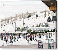 Acrylic Print featuring the painting Seven Springs Stowe Slope by Albert Puskaric
