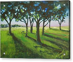 Seven Trees Acrylic Print by Michele Hollister - for Nancy Asbell