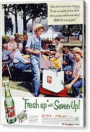 Seven-up Soda Ad, 1954 Acrylic Print by Granger