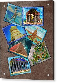 Seven Wonders Of The Ancient World Acrylic Print by Edelberto Cabrera