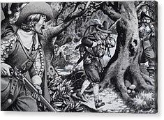 Seventeenth Century Poacher Acrylic Print by Pat Nicolle