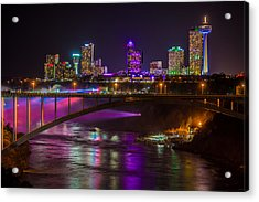 Seventh Wonder Skyline Acrylic Print by Carlos Ruiz