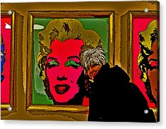 Severe Ordeals. Selfie With Marilyn Monroe. Acrylic Print by Andy Za