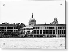 Severn River View Of United States Naval Academy Acrylic Print