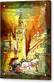 Sevilla Authentic Madness Acrylic Print by Miki De Goodaboom
