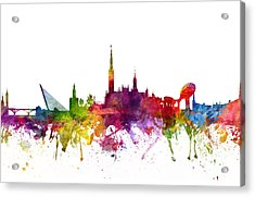 Seville Spain Cityscape 06 Acrylic Print by Aged Pixel