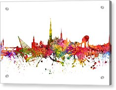 Seville Spain Cityscape 08 Acrylic Print by Aged Pixel