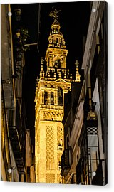 Seville - The Giralda At Night  Acrylic Print by Andrea Mazzocchetti