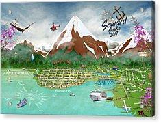 Acrylic Print featuring the digital art Seward, Alaksa 2017 by Cindy Anderson