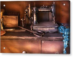 Sewing - New National Sewing Machine  Acrylic Print by Mike Savad