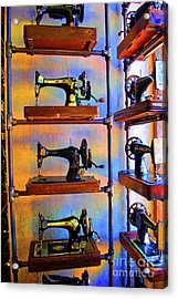 Sewing Machine Retirement Acrylic Print by Jost Houk