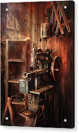 Sewing - Sewing Machine For Saddle Making Acrylic Print by Mike Savad