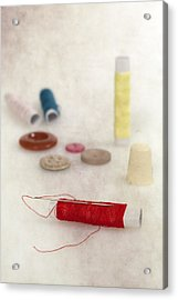 Sewing Supplies Acrylic Print by Joana Kruse