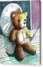 Sewn Up Teddy Bear Acrylic Print