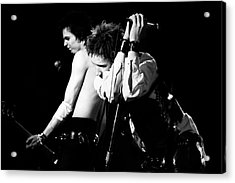 Sex Pistols John And Sid 1978 Acrylic Print by Chris Walter