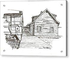 Sexsmith Train Station Acrylic Print by Rick Stoesz