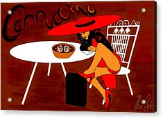 Sexy Cappuccino Acrylic Print by Helmut Rottler