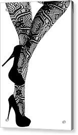 Sexy Legs In Stilettos Acrylic Print by Marius Sipa