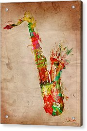 Sexy Saxaphone Acrylic Print by Nikki Smith
